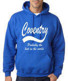 "COVENTRY Best City Mens Hoodies White-Hoodies-Gildan-Royal Blue-S To Fit Chest 36-38"" (91-96cm)-Daataadirect"