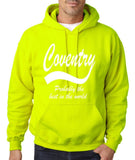 "COVENTRY Best City Mens Hoodies White-Hoodies-Gildan-Safety Green-S To Fit Chest 36-38"" (91-96cm)-Daataadirect"