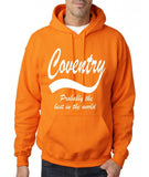 "COVENTRY Best City Mens Hoodies White-Hoodies-Gildan-Safety Orange-S To Fit Chest 36-38"" (91-96cm)-Daataadirect"