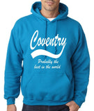 "COVENTRY Best City Mens Hoodies White-Hoodies-Gildan-Sapphire-S To Fit Chest 36-38"" (91-96cm)-Daataadirect"