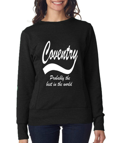 COVENTRY Best City Womens SweatShirts White-ANVIL-Daataadirect.co.uk