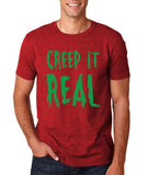 "Creep It Real Men T Shirt Green-T Shirts-Gildan-Antique Cherry-S To Fit Chest 36-38"" (91-96cm)-Daataadirect"