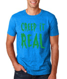 "Creep It Real Men T Shirt Green-T Shirts-Gildan-Antique Sapphire-S To Fit Chest 36-38"" (91-96cm)-Daataadirect"
