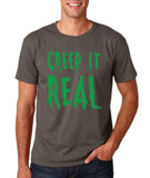"Creep It Real Men T Shirt Green-T Shirts-Gildan-Charcoal-S To Fit Chest 36-38"" (91-96cm)-Daataadirect"