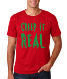 "Creep It Real Men T Shirt Green-T Shirts-Gildan-Cherry Red-S To Fit Chest 36-38"" (91-96cm)-Daataadirect"
