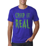 "Creep It Real Men T Shirt Green-T Shirts-Gildan-Cobalt-S To Fit Chest 36-38"" (91-96cm)-Daataadirect"