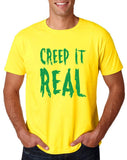 "Creep It Real Men T Shirt Green-T Shirts-Gildan-Daisy-S To Fit Chest 36-38"" (91-96cm)-Daataadirect"