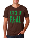 "Creep It Real Men T Shirt Green-T Shirts-Gildan-Dk Chocolate-S To Fit Chest 36-38"" (91-96cm)-Daataadirect"