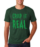 "Creep It Real Men T Shirt Green-T Shirts-Gildan-Forest Green-S To Fit Chest 36-38"" (91-96cm)-Daataadirect"