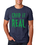 "Creep It Real Men T Shirt Green-T Shirts-Gildan-Heather Navy-S To Fit Chest 36-38"" (91-96cm)-Daataadirect"