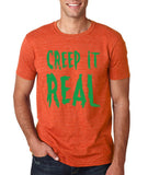 "Creep It Real Men T Shirt Green-T Shirts-Gildan-Heather Orange-S To Fit Chest 36-38"" (91-96cm)-Daataadirect"