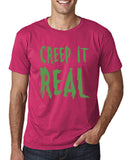 "Creep It Real Men T Shirt Green-T Shirts-Gildan-Heliconia-S To Fit Chest 36-38"" (91-96cm)-Daataadirect"