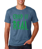 "Creep It Real Men T Shirt Green-T Shirts-Gildan-Indigo Blue-S To Fit Chest 36-38"" (91-96cm)-Daataadirect"