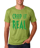 "Creep It Real Men T Shirt Green-T Shirts-Gildan-Kiwi-S To Fit Chest 36-38"" (91-96cm)-Daataadirect"