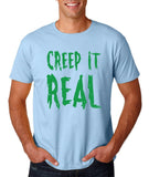 "Creep It Real Men T Shirt Green-T Shirts-Gildan-Light Blue-S To Fit Chest 36-38"" (91-96cm)-Daataadirect"