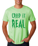 "Creep It Real Men T Shirt Green-T Shirts-Gildan-Mint Green-S To Fit Chest 36-38"" (91-96cm)-Daataadirect"