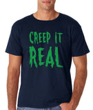 "Creep It Real Men T Shirt Green-T Shirts-Gildan-Navy-S To Fit Chest 36-38"" (91-96cm)-Daataadirect"