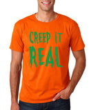 "Creep It Real Men T Shirt Green-T Shirts-Gildan-Orange-S To Fit Chest 36-38"" (91-96cm)-Daataadirect"