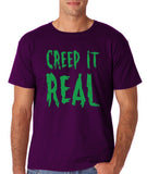 "Creep It Real Men T Shirt Green-T Shirts-Gildan-Purple-S To Fit Chest 36-38"" (91-96cm)-Daataadirect"