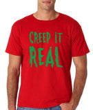 "Creep It Real Men T Shirt Green-T Shirts-Gildan-Red-S To Fit Chest 36-38"" (91-96cm)-Daataadirect"