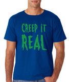 "Creep It Real Men T Shirt Green-T Shirts-Gildan-Royal-S To Fit Chest 36-38"" (91-96cm)-Daataadirect"