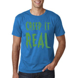 "Creep It Real Men T Shirt Green-T Shirts-Gildan-Sapphire-S To Fit Chest 36-38"" (91-96cm)-Daataadirect"