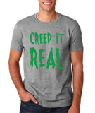 "Creep It Real Men T Shirt Green-T Shirts-Gildan-Sport Grey-S To Fit Chest 36-38"" (91-96cm)-Daataadirect"