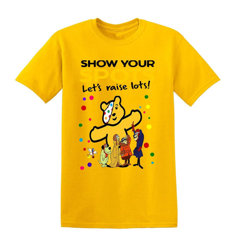 Dastardly and Muttley Spotty Day Children In Need Kids T-Shirt-t-shirts-Gildan-Colour-Size-Daataadirect