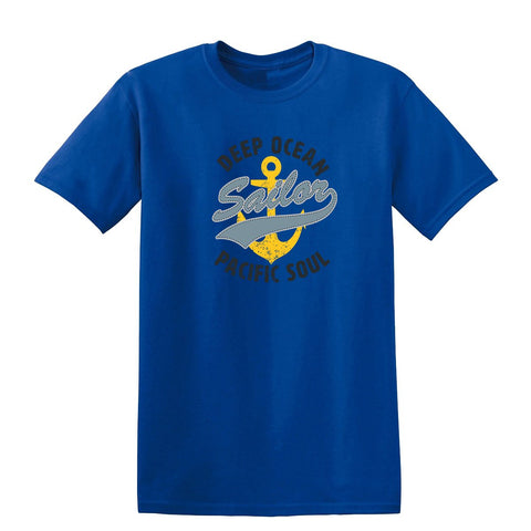 Deep Ocean Sailor Pacific Soul Mens T Shirts-t-shirts-Gildan-Colour-Size-Daataadirect