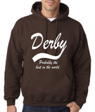 "DERBY Best City Mens Hoodies White-Hoodies-Gildan-Dark Chocolate-S To Fit Chest 36-38"" (91-96cm)-Daataadirect"