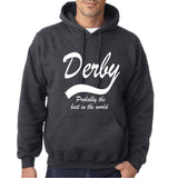 "DERBY Best City Mens Hoodies White-Hoodies-Gildan-Dark Heather-S To Fit Chest 36-38"" (91-96cm)-Daataadirect"