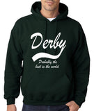 "DERBY Best City Mens Hoodies White-Hoodies-Gildan-Forest Green-S To Fit Chest 36-38"" (91-96cm)-Daataadirect"