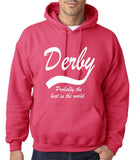 "DERBY Best City Mens Hoodies White-Hoodies-Gildan-Heliconia-S To Fit Chest 36-38"" (91-96cm)-Daataadirect"