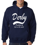 "DERBY Best City Mens Hoodies White-Hoodies-Gildan-Navy-S To Fit Chest 36-38"" (91-96cm)-Daataadirect"