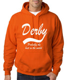 "DERBY Best City Mens Hoodies White-Hoodies-Gildan-Orange-S To Fit Chest 36-38"" (91-96cm)-Daataadirect"