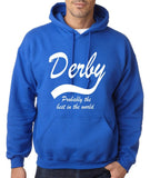 "DERBY Best City Mens Hoodies White-Hoodies-Gildan-Royal Blue-S To Fit Chest 36-38"" (91-96cm)-Daataadirect"