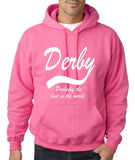"DERBY Best City Mens Hoodies White-Hoodies-Gildan-Safety Pink-S To Fit Chest 36-38"" (91-96cm)-Daataadirect"