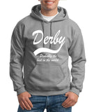 "DERBY Best City Mens Hoodies White-Hoodies-Gildan-Sport Grey-S To Fit Chest 36-38"" (91-96cm)-Daataadirect"