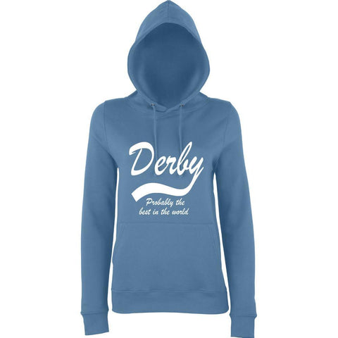 DERBY Best City Womens Hoodies White-AWD-Daataadirect.co.uk