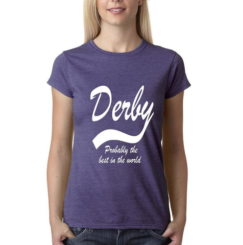 DERBY Best City Womens T Shirts White-Gildan-Daataadirect.co.uk
