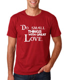 "Do Small Thing With Great Love Men T Shirts White-T Shirts-Gildan-Cardinal-S To Fit Chest 36-38"" (91-96cm)-Daataadirect"
