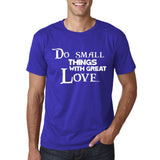 "Do Small Thing With Great Love Men T Shirts White-T Shirts-Gildan-Cobalt-S To Fit Chest 36-38"" (91-96cm)-Daataadirect"