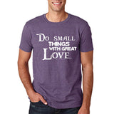 "Do Small Thing With Great Love Men T Shirts White-T Shirts-Gildan-Heather Purple-S To Fit Chest 36-38"" (91-96cm)-Daataadirect"