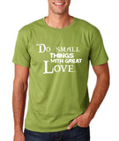 "Do Small Thing With Great Love Men T Shirts White-T Shirts-Gildan-Kiwi-S To Fit Chest 36-38"" (91-96cm)-Daataadirect"