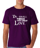 "Do Small Thing With Great Love Men T Shirts White-T Shirts-Gildan-Purple-S To Fit Chest 36-38"" (91-96cm)-Daataadirect"
