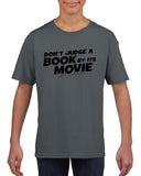 Don't judge a book by its movie Black Kids T Shirt-T Shirts-Gildan-Charcoal-YXS (3-5 Year)-Daataadirect