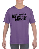 Don't judge a book by its movie Black Kids T Shirt-T Shirts-Gildan-Cobalt-YXS (3-5 Year)-Daataadirect