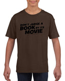 Don't judge a book by its movie Black Kids T Shirt-T Shirts-Gildan-DK Chocolate-YXS (3-5 Year)-Daataadirect