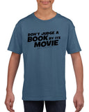 Don't judge a book by its movie Black Kids T Shirt-T Shirts-Gildan-Indigo Blue-YXS (3-5 Year)-Daataadirect
