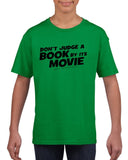 Don't judge a book by its movie Black Kids T Shirt-T Shirts-Gildan-Irish Green-YXS (3-5 Year)-Daataadirect